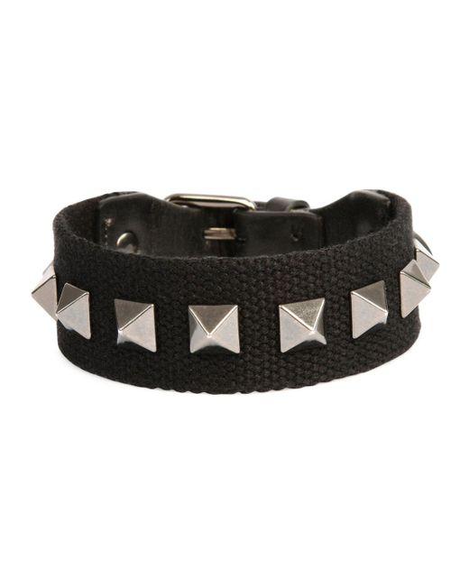 Valentino | Black Men's Nylon Rockstud Bracelet for Men | Lyst