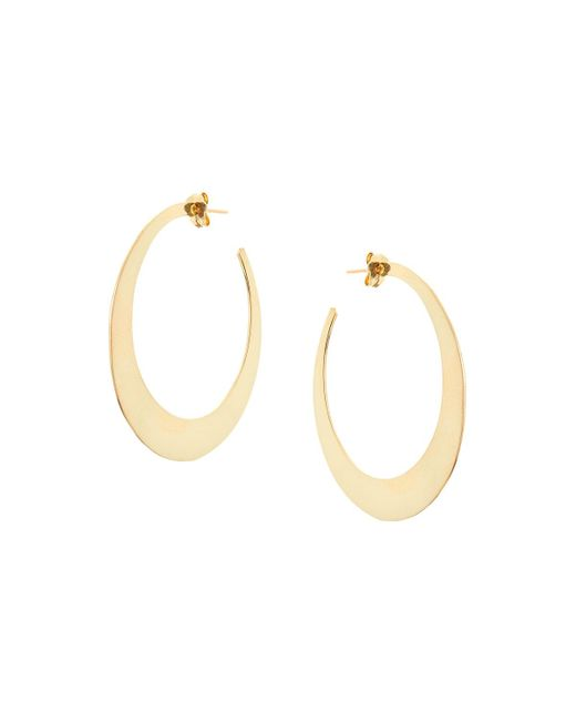 Lana Jewelry | Metallic Medium Gloss Hoop Earrings In 14k Yellow Gold | Lyst