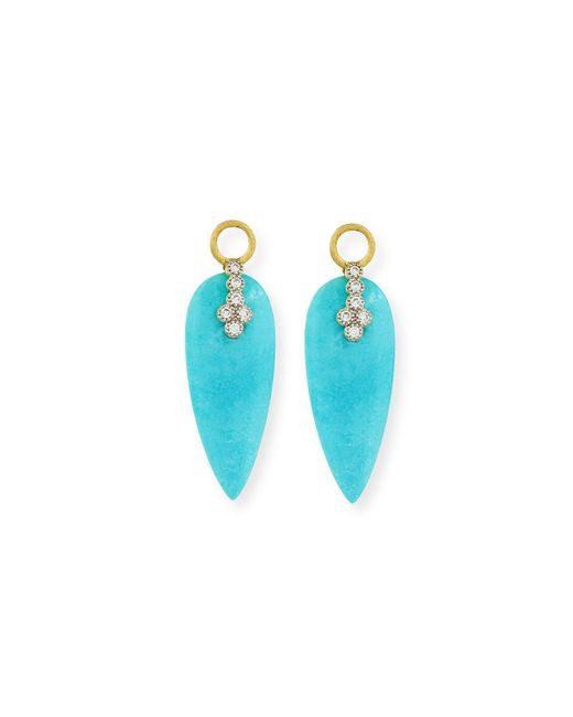 Jude Frances | Blue Provence Turquoise & Diamond Earring Charms | Lyst
