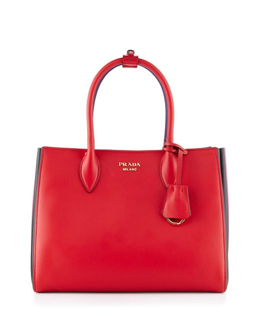 865ac150bf62 Prada Bibliotheque Bag In Black And Red | Stanford Center for ...