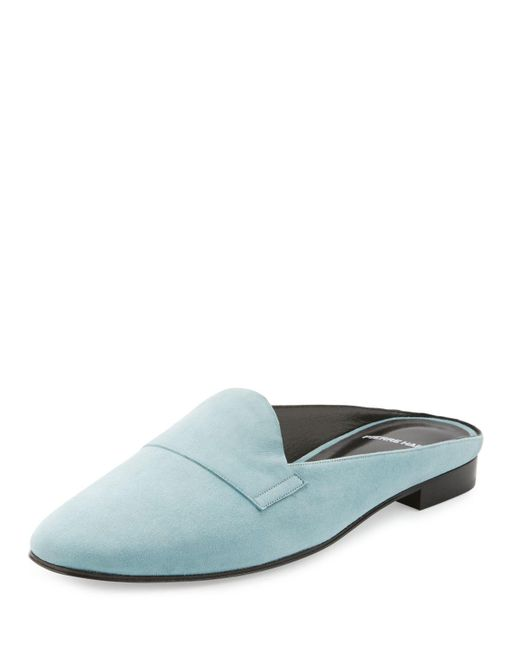 Pierre Hardy | Blue Jacno Suede Backless Loafer | Lyst