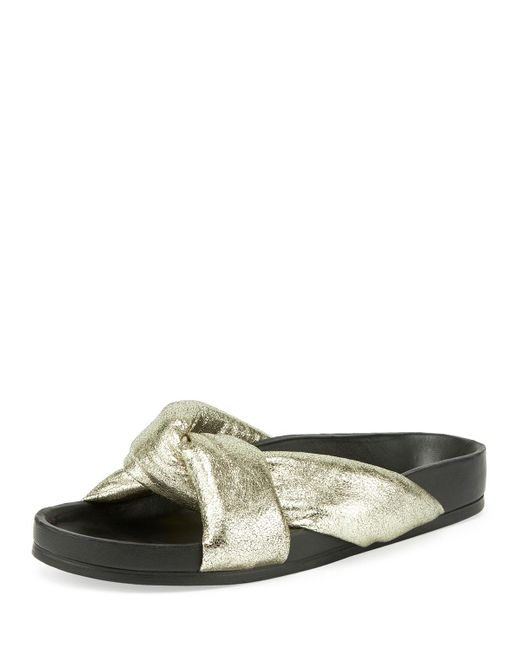 Chloé | Multicolor Leather Crisscross Slide Sandal | Lyst