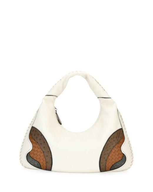 Bottega Veneta | White Veneta Patchwork Large Hobo Bag | Lyst