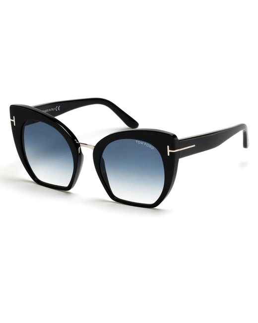 tom ford samantha cropped cat eye sunglasses in blue lyst. Cars Review. Best American Auto & Cars Review