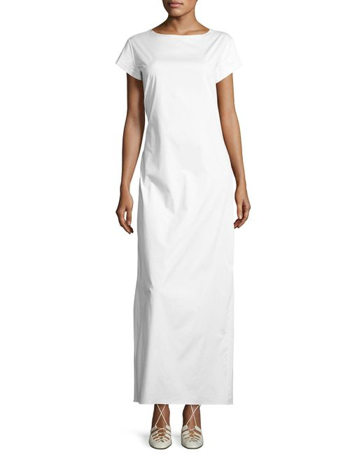 The Row   White Muriel Short-sleeve Maxi Dress   Lyst