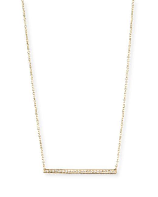 Sydney Evan | Metallic 14k Gold Diamond Bar Necklace | Lyst