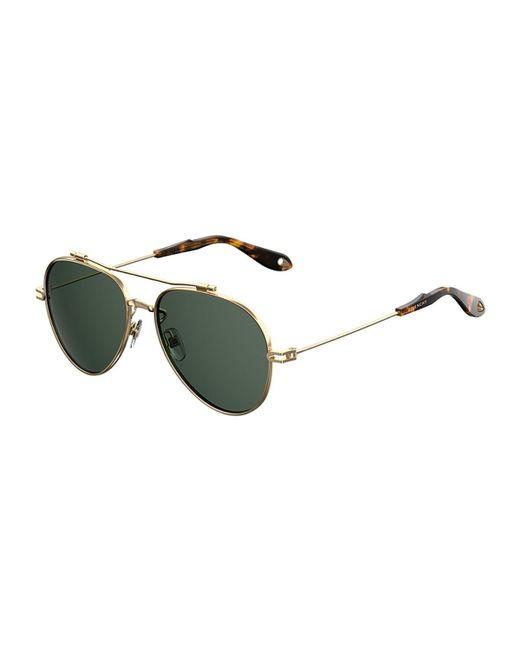 Givenchy | Metallic Metal Aviator Sunglasses for Men | Lyst