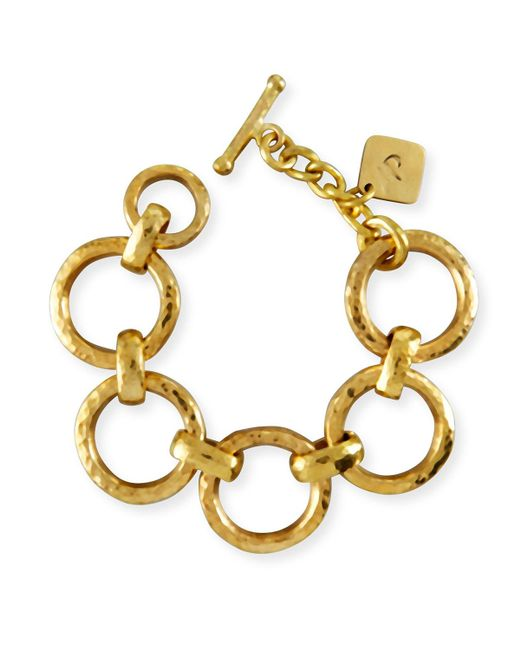 Ashley Pittman | Metallic Daima Bronze Link Bracelet | Lyst