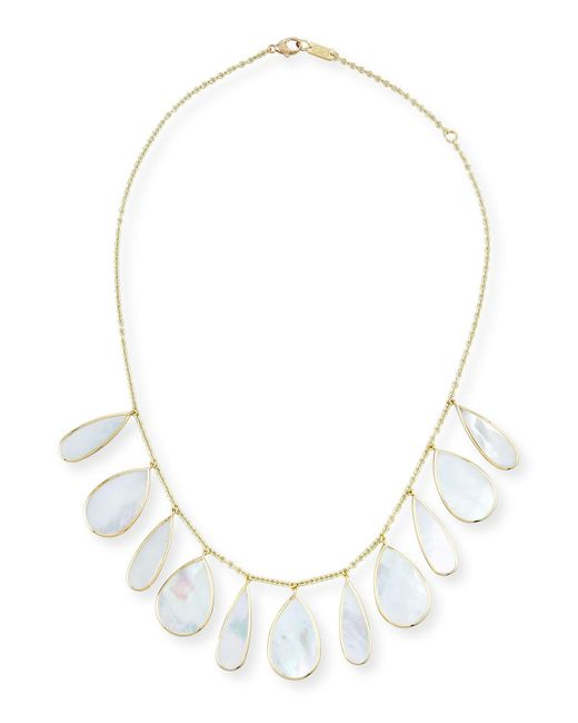 Ippolita   Metallic 18k Polished Rock Candy Pear Necklace In Mother-of-pearl   Lyst