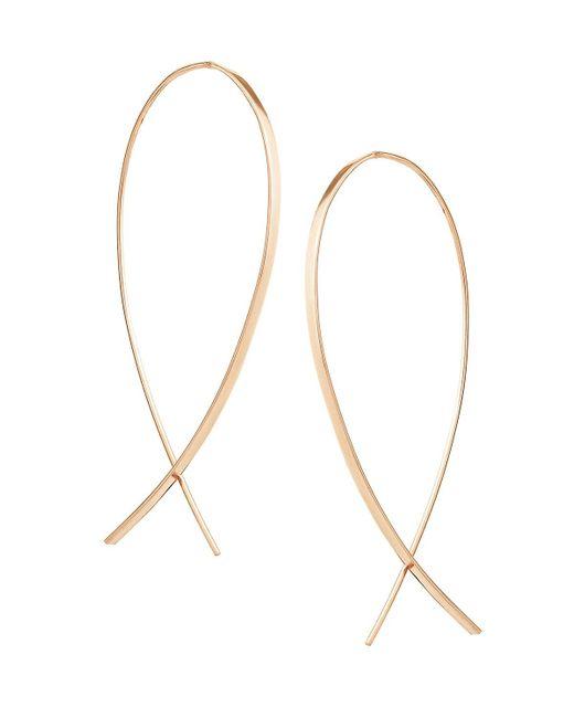 Lana Jewelry | Metallic Small Upside Down Hoop Earrings | Lyst