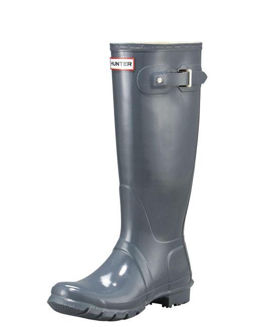 Hunter | Gray Tall Gloss Boot | Lyst