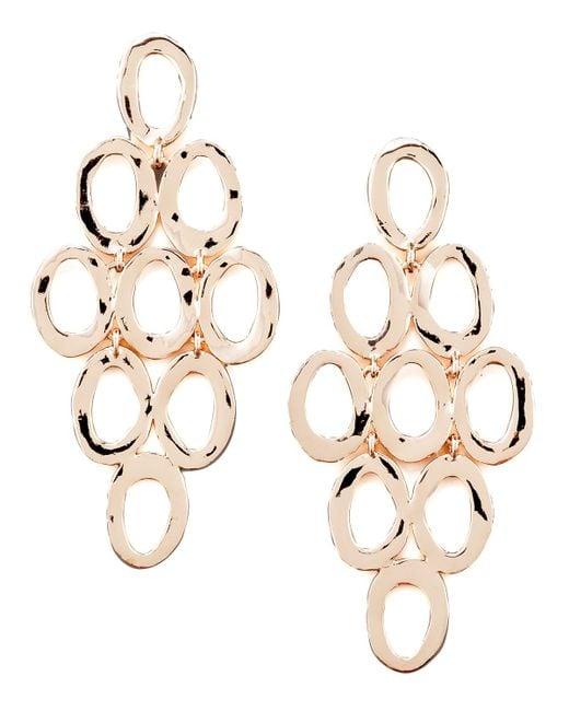 Ippolita | Pink Rose Gold Open Cascade Post Earrings | Lyst