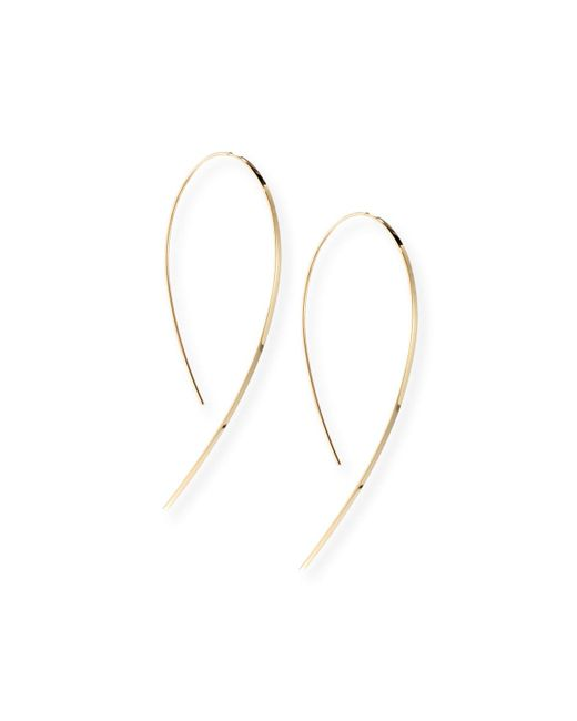 Lana Jewelry | Metallic Small Flat Hook-on Hoop Earrings | Lyst