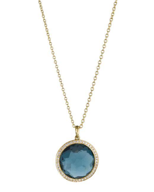 Ippolita | London Blue Topaz Lollipop Pendant Necklace | Lyst