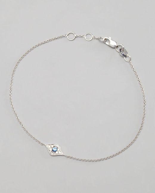 Sydney Evan   Metallic Mini Diamond Evil Eye Bracelet   Lyst