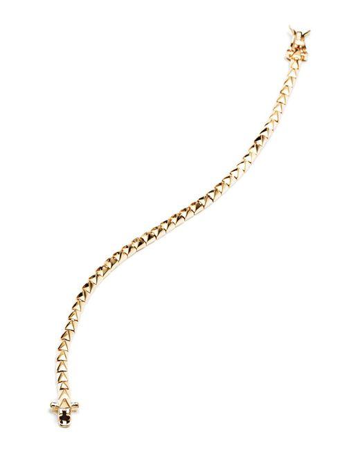 Eddie Borgo | Metallic Yellow Gold Pyramid Tennis Bracelet | Lyst