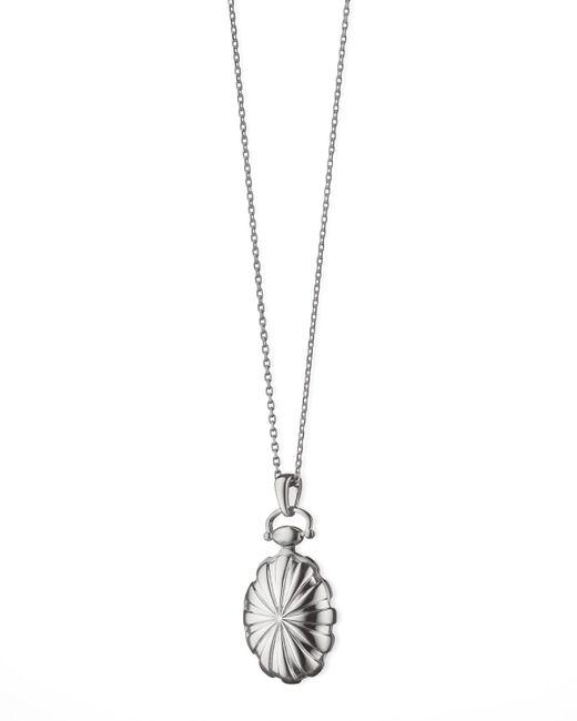 Monica Rich Kosann | Metallic Petite Sunburst Locket Necklace | Lyst