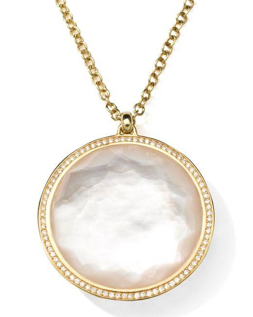 Ippolita | Metallic 18k Gold Rock Candy Large Lollipop Necklace In Doublet & Diamonds | Lyst