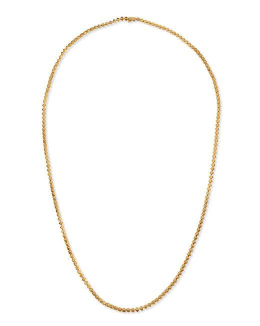 Eddie Borgo   Metallic Matte Yellow Gold Pyramid Link Necklace   Lyst