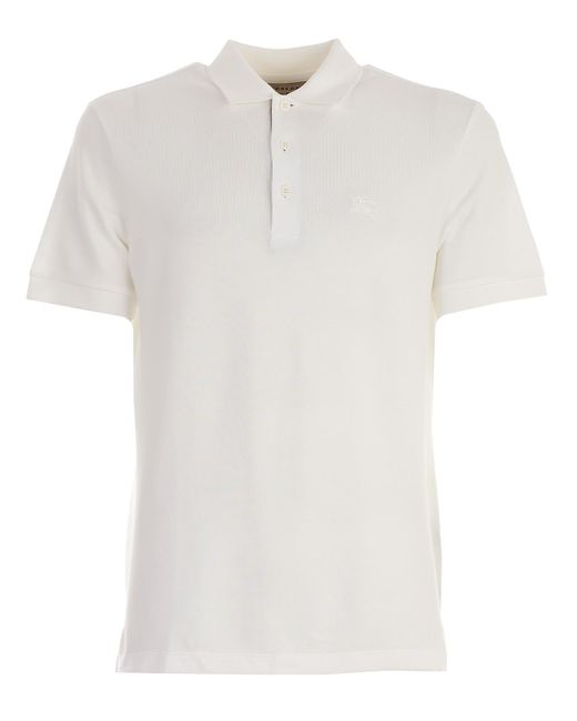 Burberry - White Polo for Men - Lyst