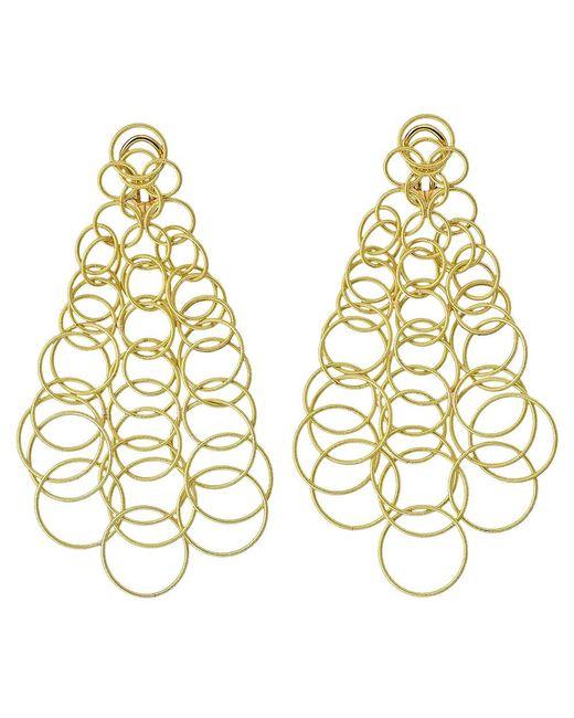 """Buccellati - Large 18k Yellow Gold """"hawaii"""" Chandelier Earrings - Lyst"""