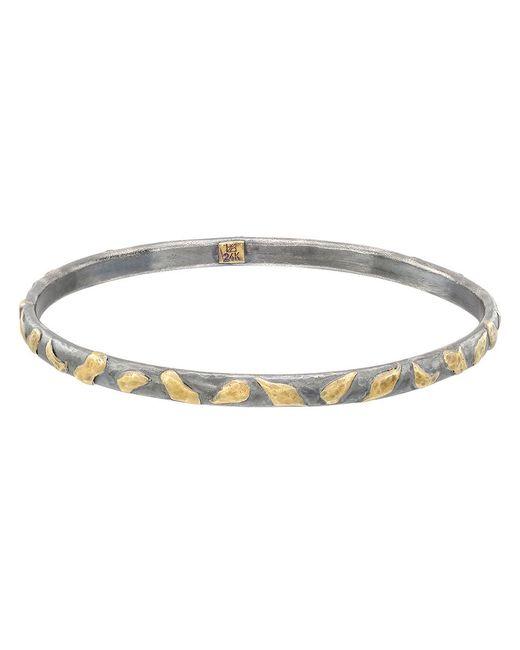 "Yossi Harari - Metallic Silver & 24k Gold ""mica"" Stack Bangle - Lyst"