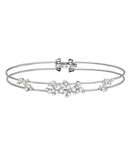 "Paul Morelli - 18k White Gold & Diamond ""confetti"" Wire Bracelet - Lyst"