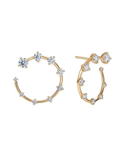 Fernando Jorge - Small 18k Yellow Gold & Diamond Circle Earrings - Lyst