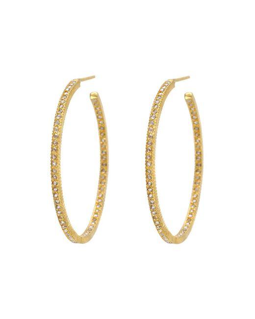 "Yossi Harari - Metallic Large Champange Diamond ""lilah"" Hoop Earrings - Lyst"