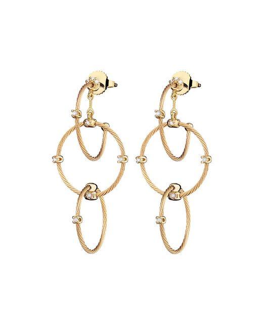 "Paul Morelli - Medium 18k Yellow Gold ""unity"" Rain Chain Earrings - Lyst"