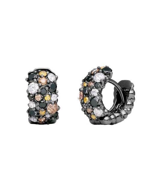 "Paul Morelli - Small Multicolored Diamond ""confetti"" Snap Hoop Earrings - Lyst"