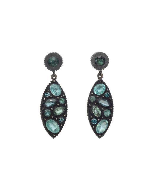 "Yossi Harari - Multicolor Gem-set Mosaic ""sara"" Drop Earrings - Lyst"
