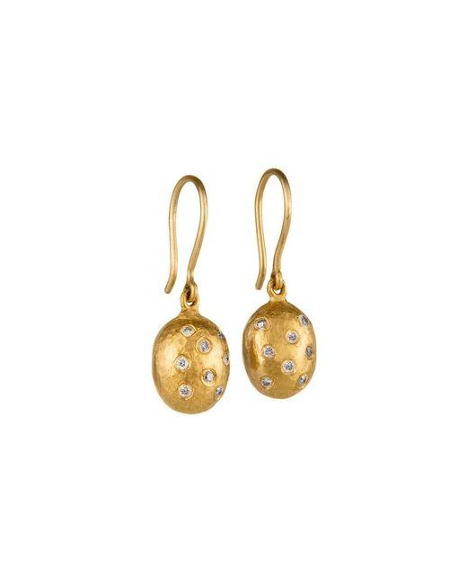 """Yossi Harari - Small 24k Yellow Gold & Diamond """"helen"""" Drop Earrings - Lyst"""