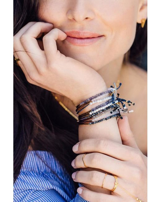 Gorjana - Metallic Power Gemstone Bracelet/ Howlite - Lyst