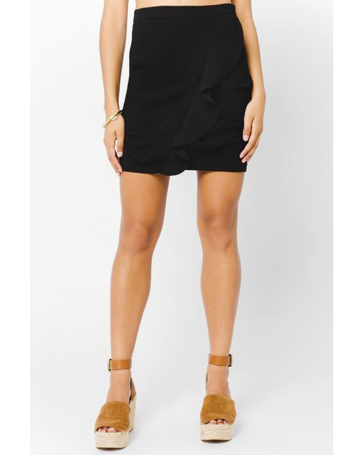 BCBGeneration - Black Ruffle Front Skirt - Lyst
