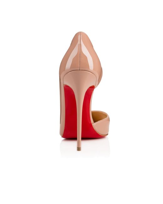 christian louboutin shoes with spikes - Christian louboutin Iriza Patent Leather Half D'Orsay Pumps in ...