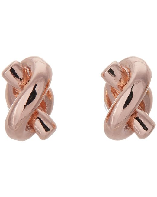 Kate Spade | Pink Sailor's Knot Stud Earrings | Lyst