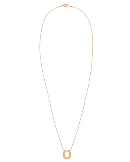 Dogeared | Metallic Lucky Horseshoe Charm Necklace | Lyst
