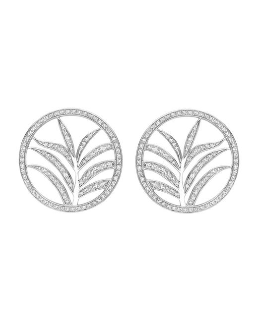Theo Fennell | White Large Palm Diamond Disc Earrings | Lyst
