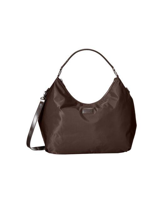 Lipault | Brown Hobo Bag (l) | Lyst