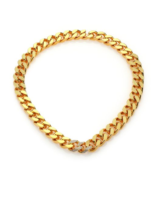 Vita Fede | Metallic Franco Crystal Link Necklace | Lyst