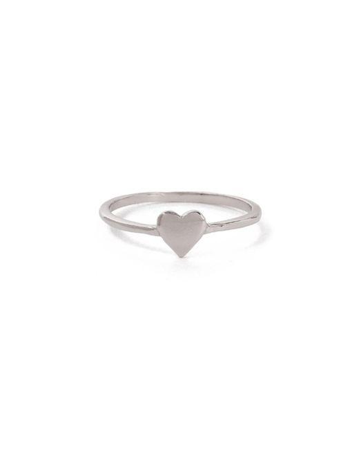 Bing Bang - Metallic Heart Ring - Lyst