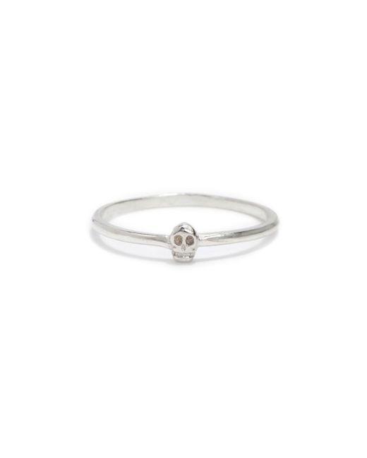 Bing Bang - Metallic Tiny Skull Ring - Lyst