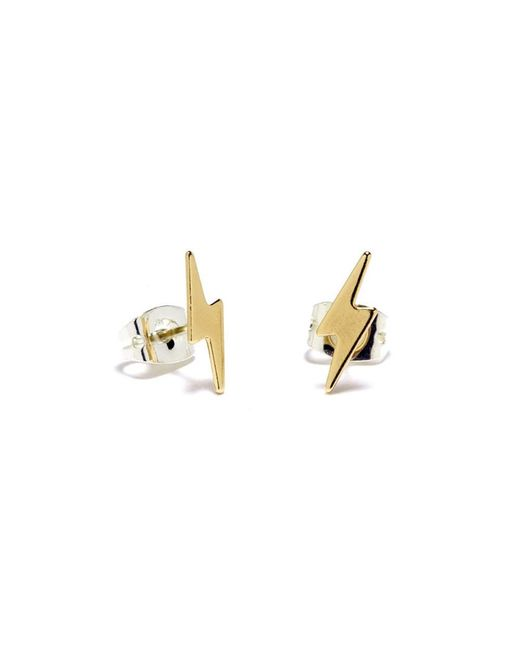 Bing Bang | Yellow Lightning Bolt Studs | Lyst