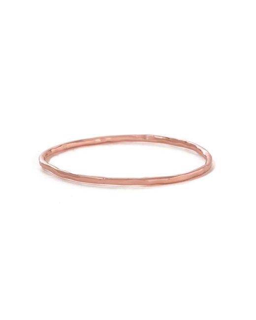 Bing Bang | Pink Round Hammered Bangle | Lyst
