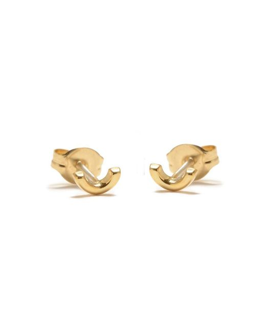 Bing Bang | Metallic Arc Studs | Lyst
