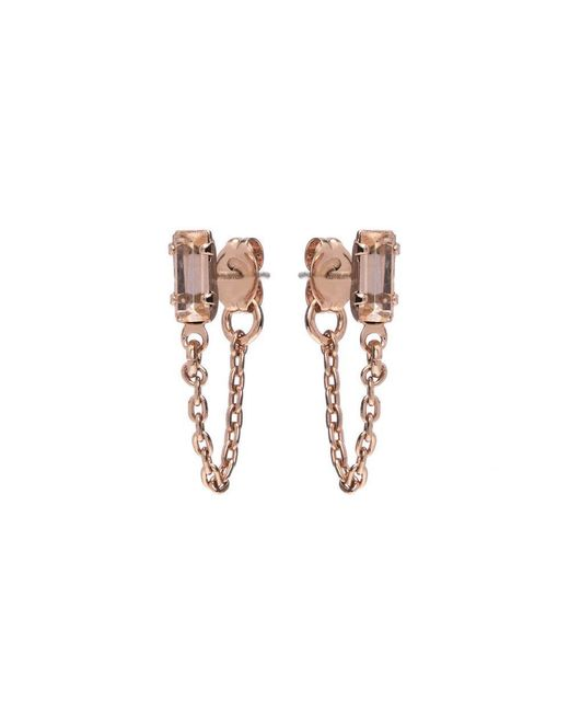 Bing Bang | Pink Baguette Continuous Earrings | Lyst