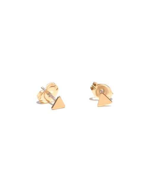 Bing Bang | Yellow Tiny Triangle Studs | Lyst