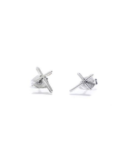 Bing Bang | Metallic Skinny Cross Studs | Lyst