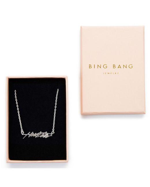 Bing Bang   Metallic Hustle Necklace   Lyst